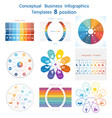 set templates infographics for eight positions vector image vector image