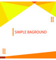 simple baground template design in light yellow vector image