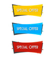 special offer sale banner for your design vector image