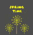 spring time postcard seasonal phrase ink vector image
