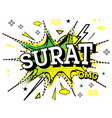 surat comic text in pop art style isolated on vector image vector image