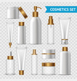 transparent cosmetics icon set vector image