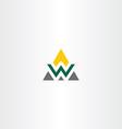 Triangle logo letter w symbol