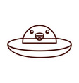 ufo flying kawaii character vector image vector image