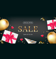 valentine day flyer design with sale flat lay vector image vector image