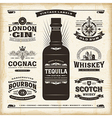 Vintage alcohol labels collection vector image vector image