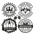 vintage brewery logo emblems and badges vector image