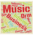 Will DRM Save the Record Industry text background vector image vector image