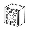 woofer speaker icon doodle hand drawn or outline vector image vector image