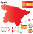 Spanish flag small vector image