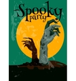 Zombie Spooky Party Halloween poster vector image