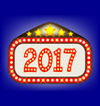 2017 movie theatre marquee vector image vector image