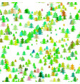 abstract chaotic pine tree background - seasonal vector image vector image