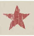 abstract grunge red star on wooden texture vector image vector image