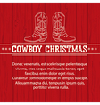 american christmas background with cowboy