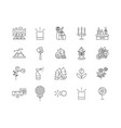 aromatheraphy line icons signs set vector image