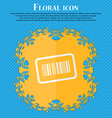 Barcode Floral flat design on a blue abstract vector image vector image