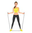beautiful fitness woman posingn with jumping rope vector image vector image