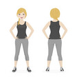 blond woman playing sport with grey and black vector image vector image