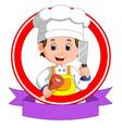 butcher mascot cartoon vector image vector image