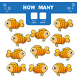 cartoon educational game of vector image vector image
