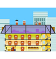 cartoon office building in the cross section vector image vector image