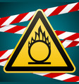 caution oxidizer safety sign yellow triangle vector image vector image