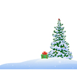 Christmas tree border vector image