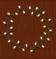 circle frame of glowing white christmas lights vector image vector image