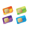 color sim cards vector image vector image