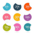 Colorful Discount Labels - Stickers Set vector image vector image
