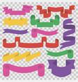 colorful set ribbons inside on transparent vector image