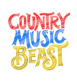 country music concept vector image vector image