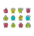 cute line robot vector image vector image