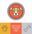 dog icons and logos vector image vector image