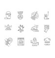 domestic staff flat line icons set vector image vector image