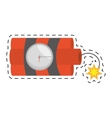 Dynamite sticks mining tnt clock fire cut line vector image
