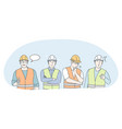 engineering and construction workers concept vector image vector image