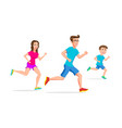 Family sport running or jogging father mother and