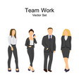 flat design working people on white background vector image
