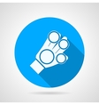 Flat icon for sport glove vector image vector image
