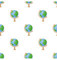 globe icon in cartoon style isolated on white vector image vector image