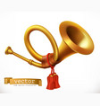 golden trumpet horn icon vector image