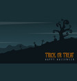 grave scary landscape for halloween day vector image vector image