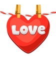Greeting card with heart Concept can be used for vector image
