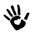 Human hand silhouette vector image vector image