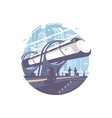 hyperloop express transport train vector image