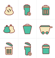 Icons Style Icons Style Garbage Icons vector image vector image