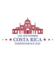 Independence Day Costa Rica vector image vector image
