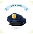 Law icon police hat vector image
